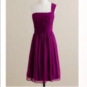J Crew Lucienne one shoulder dress
